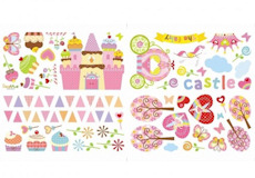 Muurstickers Cupcake Castle film3