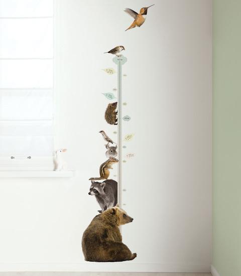 Muursticker groeimeter beer
