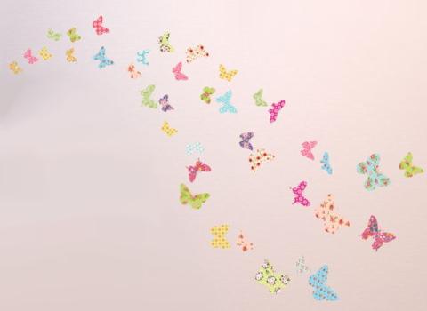 Muurstickers Vlinders pastel