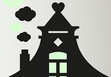 Schoolbordsticker Zaans Huisje detail